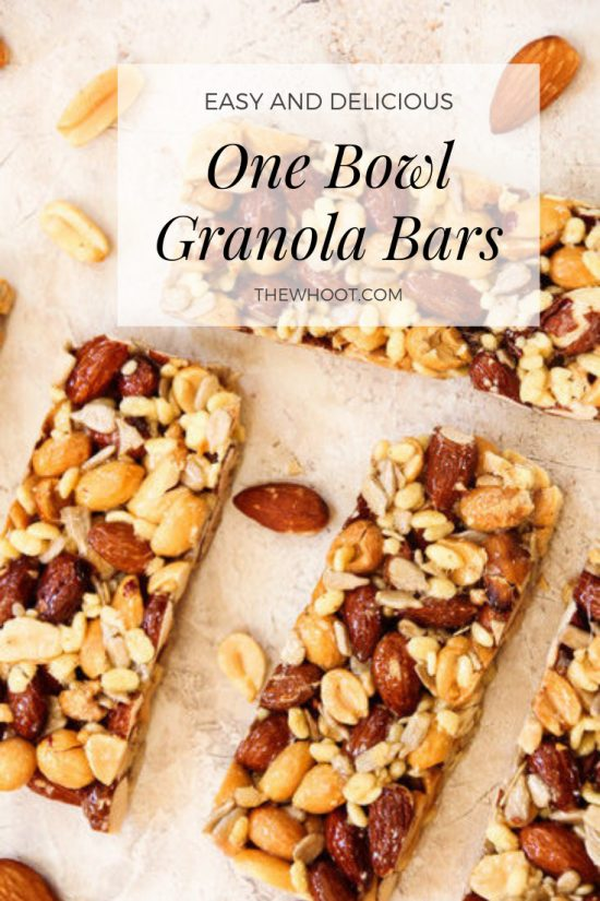 Granola Bars - Easy One-Bowl Recipe {Video}   The WHOot