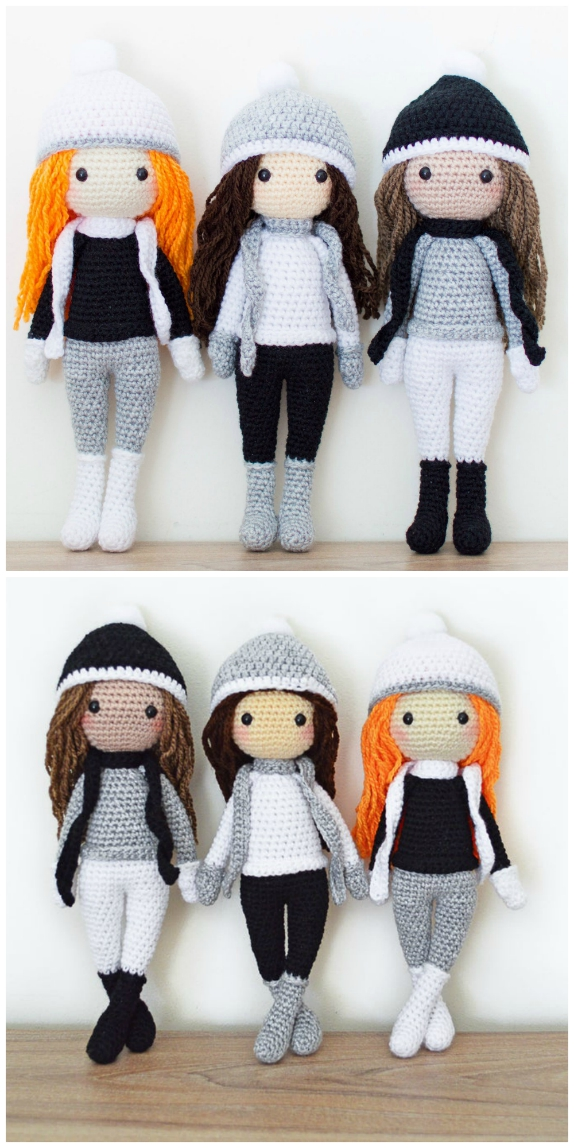 Free Crochet Amigurumi Doll Pattern Tutorials | Crochet doll ... | 1148x574