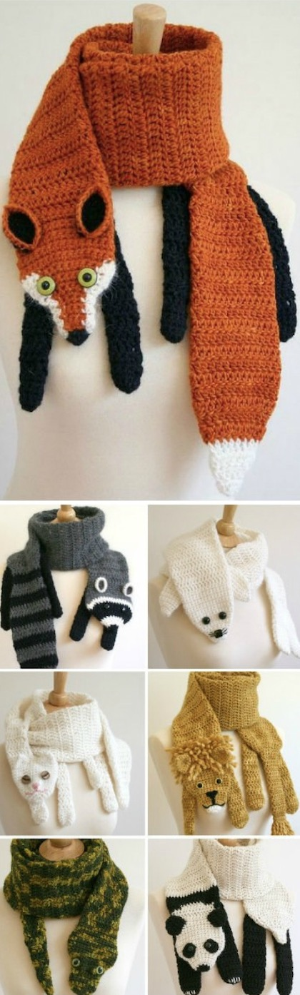 Crochet Animal Scarves Patterns You'll Love Video Tutorial