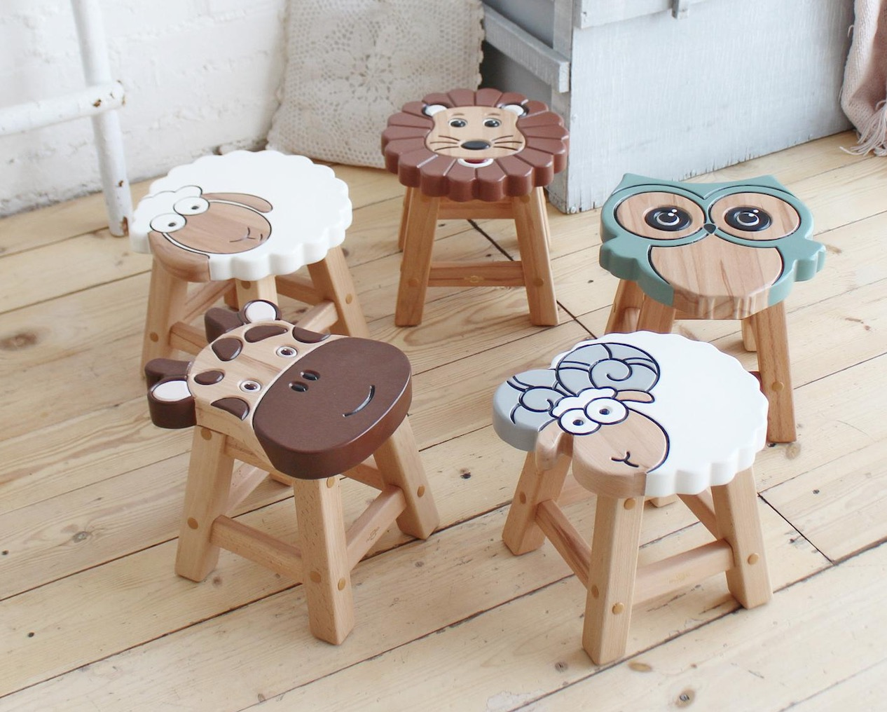 Children S Wooden Animal Stools Cutest Ideas The Whoot