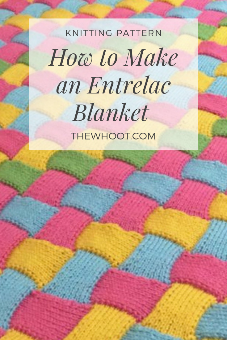 Entrelac Knitted Baby Blanket Pattern The Whoot