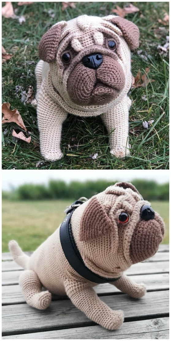 crochet pattern for pug dog