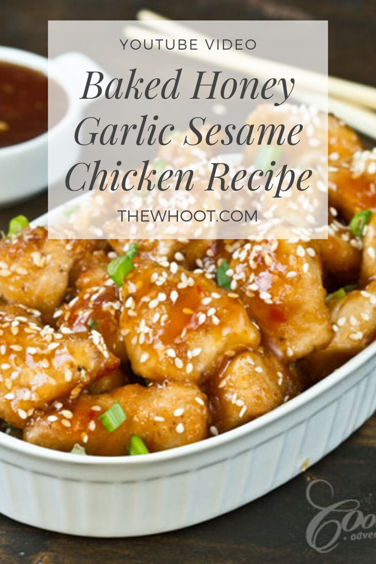 Baked Honey Garlic Sesame Chicken The Whoot