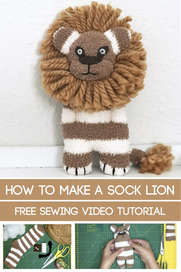 how to make a sock lion