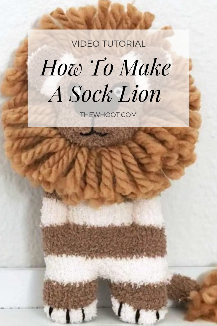 how to make sock lion