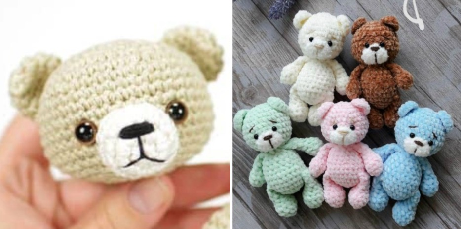Tiny Teddy Crochet Pattern - Video Tutorial | The WHOot | 464x934