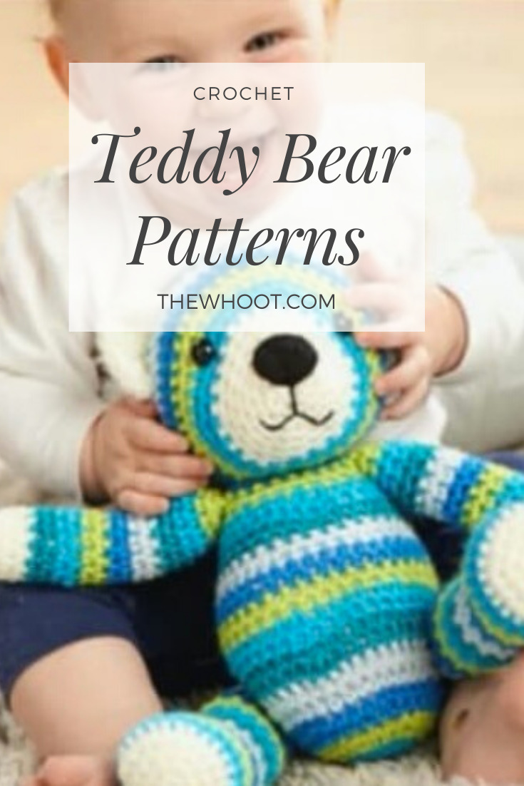 FREE Crochet Pattern for a Cute Teddy Bear | Crochet teddy bear ... | 1102x735