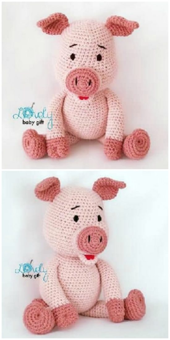 Pig Selfies and Updates ~ Amigurumi To Go | Cochon, Crochet, Tuto | 1100x550