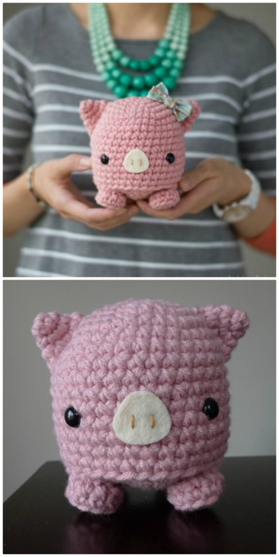 Pig - Amigurumi piglet crochet pattern and tutorial | 1098x550