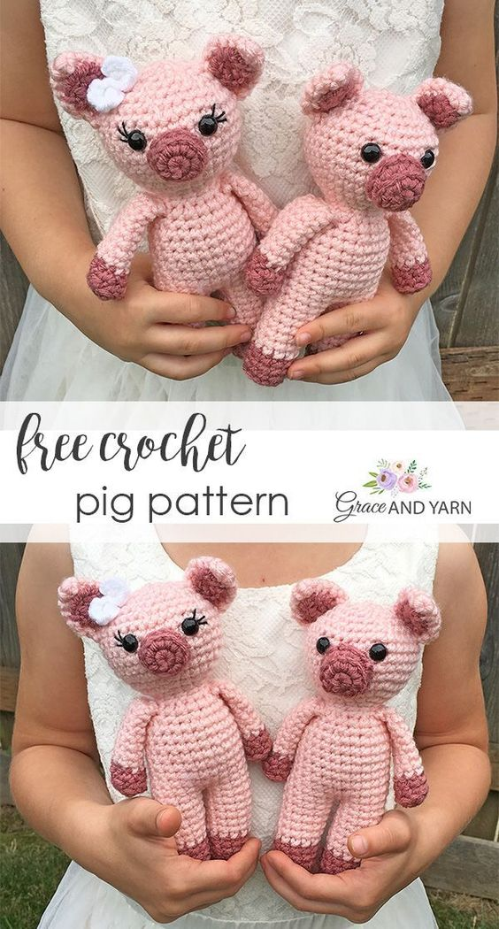Ravelry: Little Bigfoot Pig 2014 pattern by Sharon Ojala | 1050x564