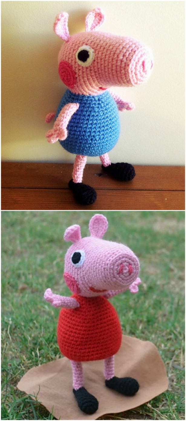 Amigurumi pig free pattern | The Sun and the Turtle | 1394x615