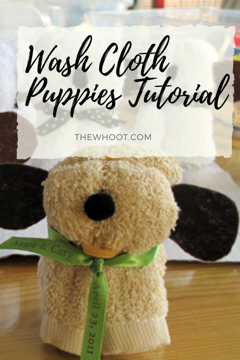 How To Make Washcloth Puppies Video The Whoot