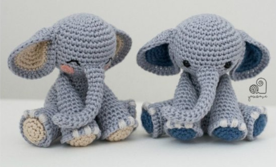 Baby Elephant Crochet Tutorial - Crochet Applique Tutorial - YouTube | 658x1086
