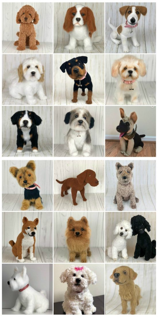 11 Amigurumi Dog Crochet Patterns – Cute Puppies - A More Crafty Life | 1100x550