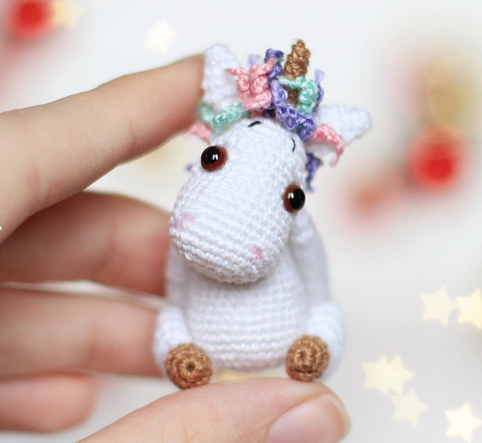 Lavender Unicorn Crochet Pattern ONLY not a finished product ... | 894x972