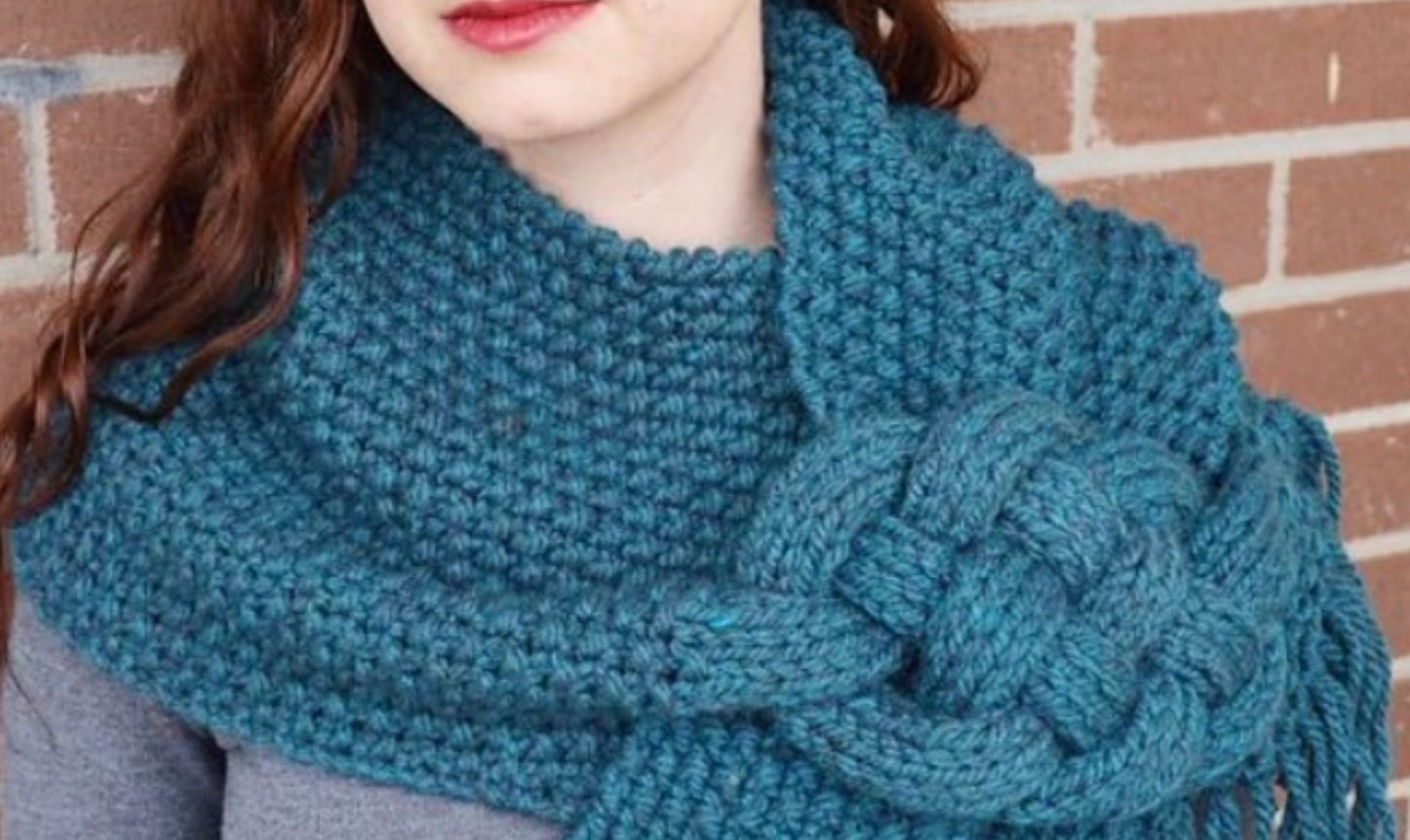 Celtic Knot Loop Scarf Pattern For Knitters The Whoot