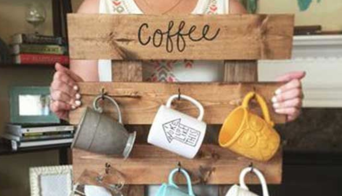 Pallet Coffee Mug Hanger Diy Video Tutorial The Whoot