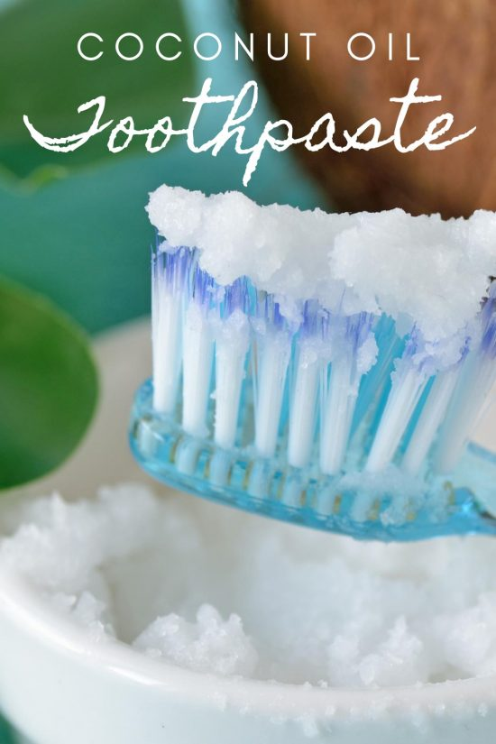 natural toothpaste with coconut oil