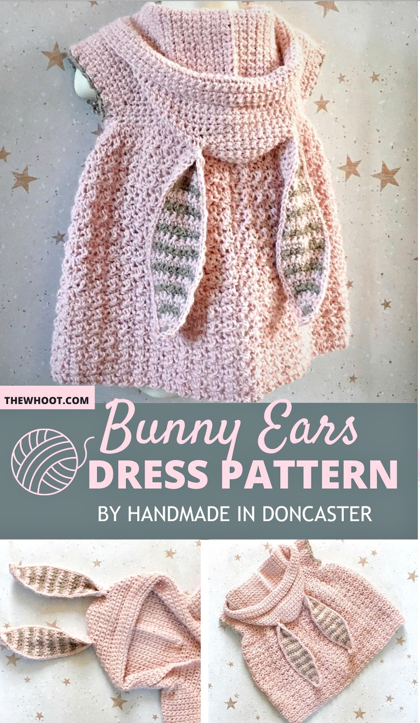 bunny ears dress crochet pattern