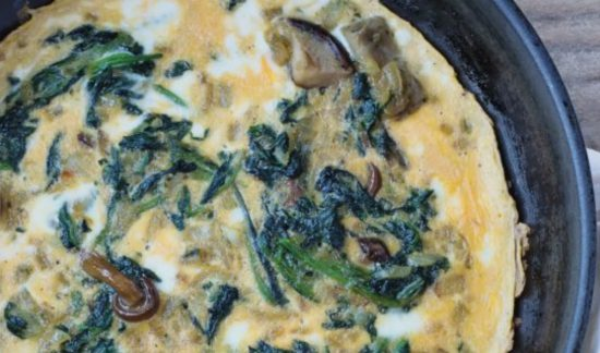 You are going to love this super easy and extremely healthy Mushroom and Spinach Omelette recipe. Watch the video tutorial now.