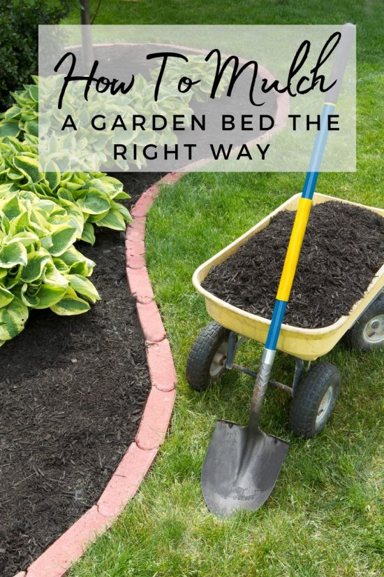 how to add mulch to garden bed