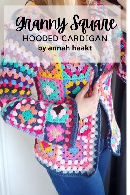 granny square hooded cardigan pattern